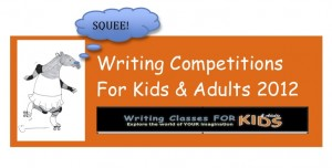 2012 Writing Competitions Writing classes for kids and adults - black header with no writer