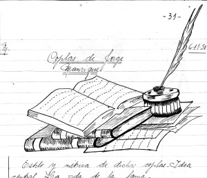 Book and Pen Drawing by Piluca Steel